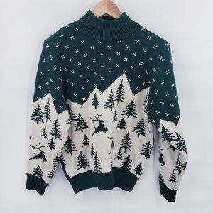 Vintage Turtle Neck Holiday Christmas Sweater